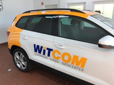 Fahrzeugbeschriftung Wiesbaden Witcom SUV Teilfolierung