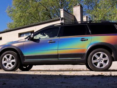 Vollverklebung Vollfolierung Volvo Fahrzeugbeschriftung-Wiesbaden