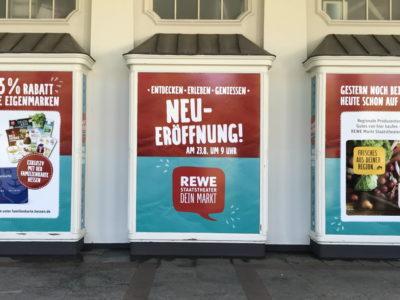 Schaufensterbeschriftung REWE Fahrzeugbeschriftung-Wiesbaden