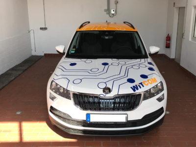 Teilverklebung Fahrzeugbeschriftung-Wiesbaden